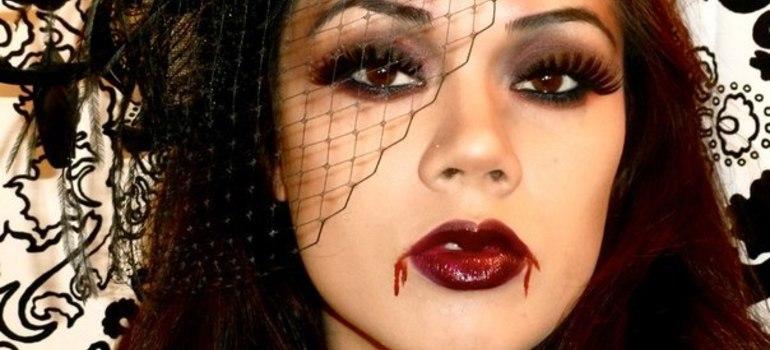 Вампирша макияж