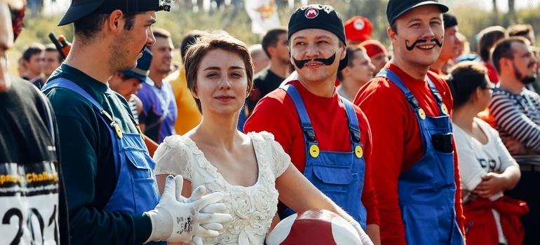 Марио на празднике