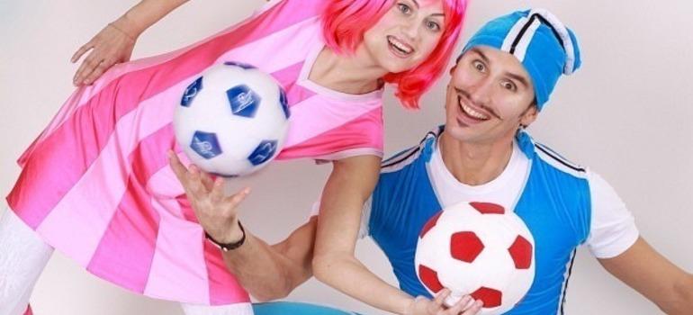 Веселые Спортакус и Стефани