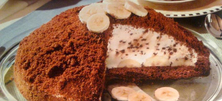 Сладость тортик Шоколадный банан