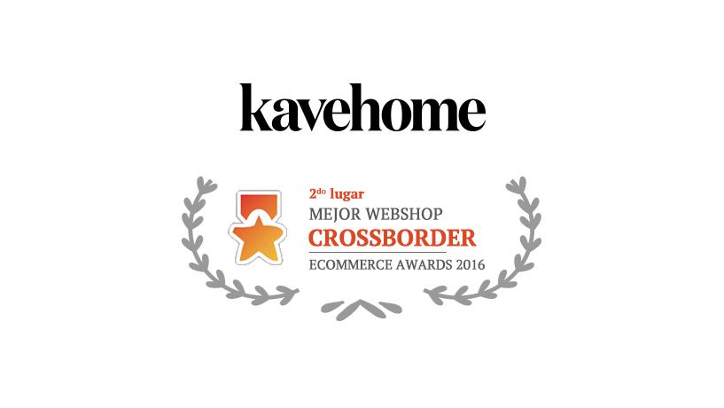 """Kavehome élue 2ème meilleure boutique en ligne dans la catégorie """"Crossborder"""" lors des 7ème eCommerce Awards de Madrid!"""