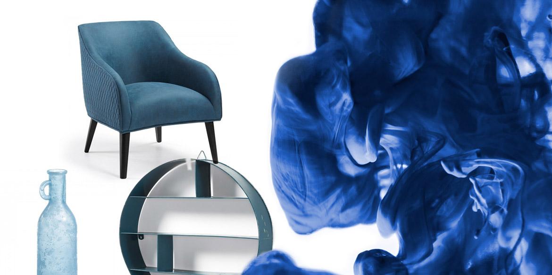 Une déco en bleu et blanc