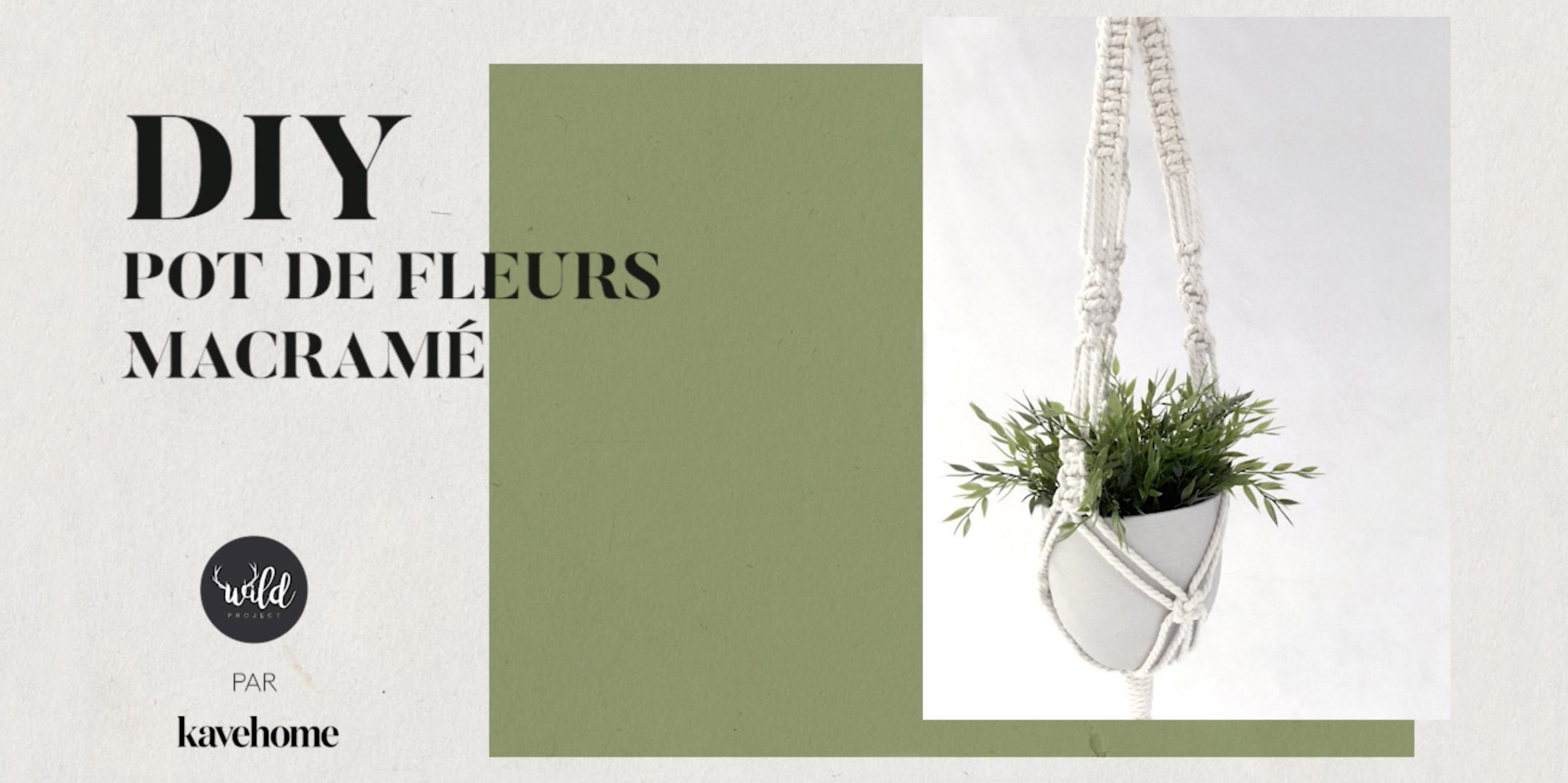 DIY - Comment faire un pot de fleurs en macramé