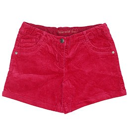 Pantaloni scurți din material catifea - Jbc