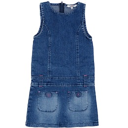 Rochie copii din material jeans (blugi) - Girl2Girl