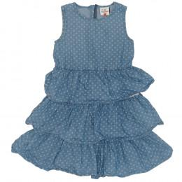 Rochie copii din material jeans (blugi) - Topolino