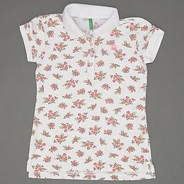 Tricou cu guler pentru copii - Benetton