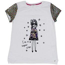 Tricou cu paiete pentru copii - Marks&Spencer