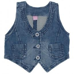 Vestă copii din material jeans (blugi) - Dopodopo
