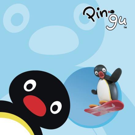 Pingu åker snowboard