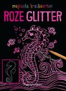 Kraskaarten Roze glitter