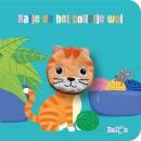 Kartonboek met vingerpopje: Katje en het bolletje wol