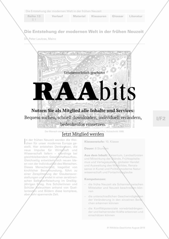 Die Entstehung der modernen Welt in der frühen Neuzeit – RAAbits ...