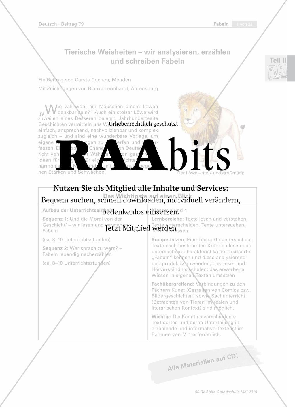 Tierische Weisheiten Wir Analysieren Erzählen Und Schreiben