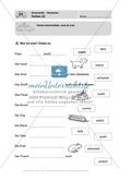 Wortarten, Verben: Führerschein-Übungsaufgaben und Lösung Preview 2