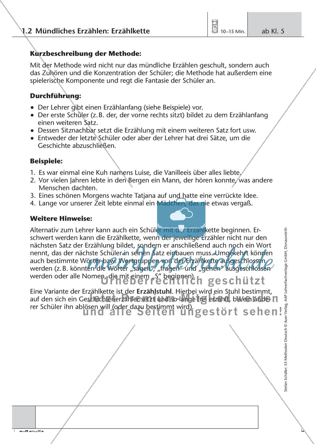 Methodik: Mündliche Erzählkette Preview 0