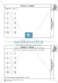 Rechnen mit Brüchen: Stationen: Arbeitsblätter, Aufgaben mit Lösungen Preview 4
