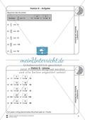 Rechnen mit Brüchen: Stationen: Arbeitsblätter, Aufgaben mit Lösungen Preview 8