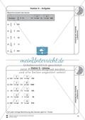 Rechnen mit Brüchen: Stationen: Arbeitsblätter, Aufgaben mit Lösungen Preview 9