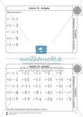 Stationsarbeit - Multiplikation und Division von Brüchen: Stationskärtchen, Lösungen, Arbeitsbögen Preview 10