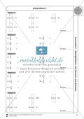 Stationsarbeit - Multiplikation und Division von Brüchen: Stationskärtchen, Lösungen, Arbeitsbögen Preview 11