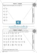 Stationsarbeit - Multiplikation und Division von Brüchen: Stationskärtchen, Lösungen, Arbeitsbögen Preview 7