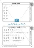 Stationsarbeit - Multiplikation und Division von Brüchen: Stationskärtchen, Lösungen, Arbeitsbögen Preview 8