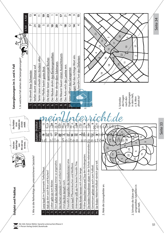 Subjekt und Prädikat: Übungen + Lösungen Preview 1
