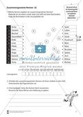Zusammengesetzte Nomen: Arbeitsübungen + Lösungen Preview 3