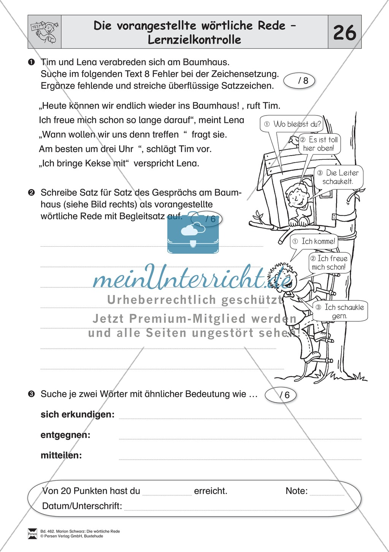 arbeitsblatt vorschule 187 zeichensetzung 4 klasse 252bungen