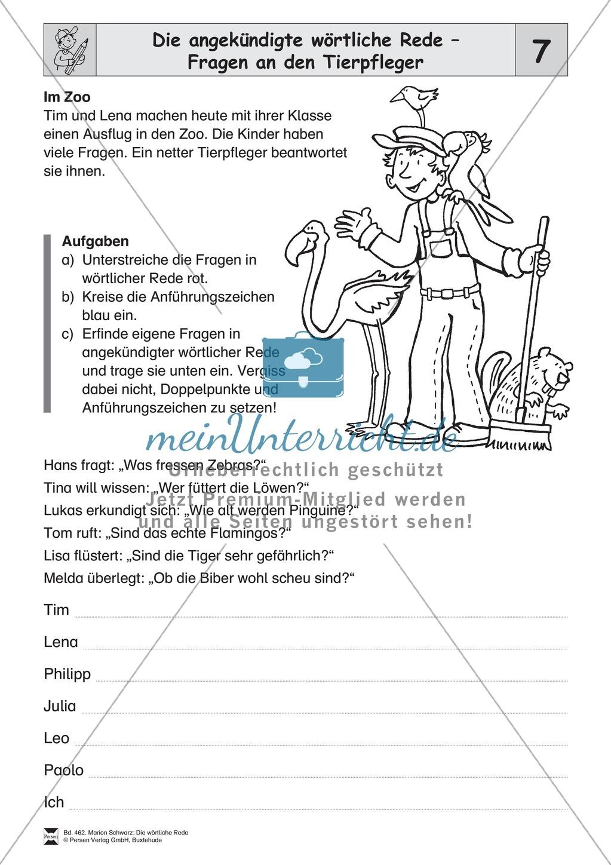 Die wörtliche Rede - Umfassendes Übungsmaterial für die 3./4. Klasse ...