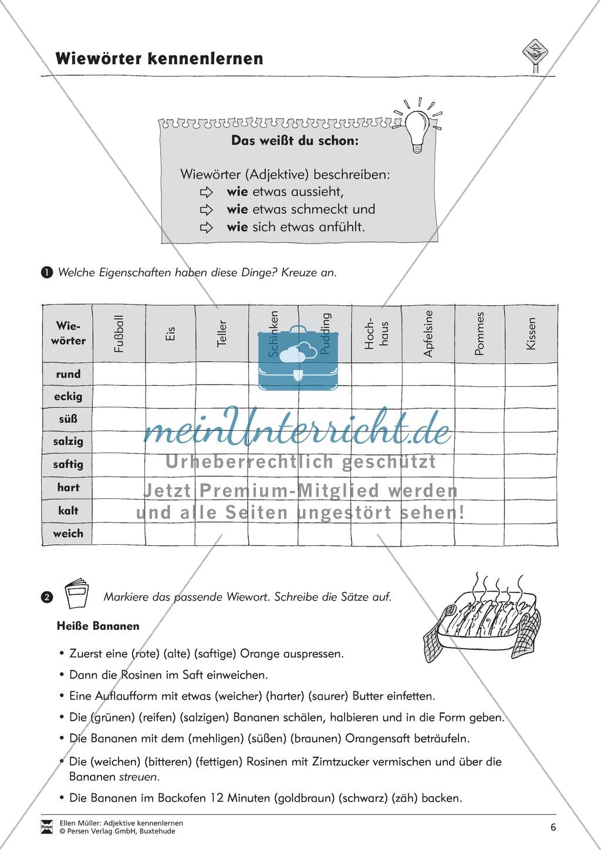 Adjektive kennenlernen: Aufgaben + Übungen Preview 5