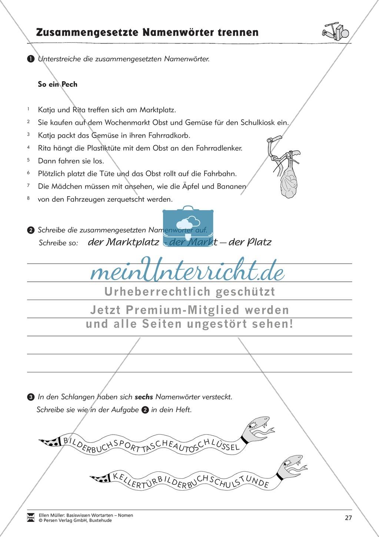 Namenwörter zusammensetzen: Arbeitsblätter Preview 11