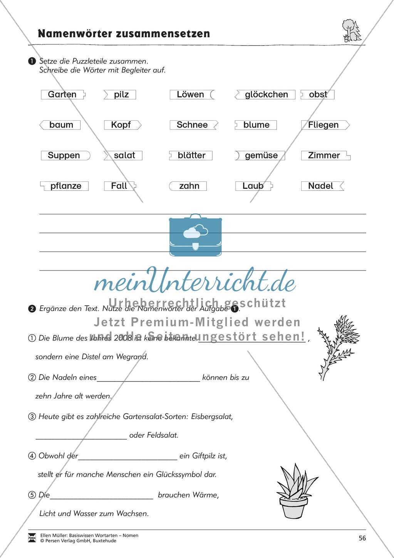 Namenwörter zusammensetzen: Arbeitsblätter Preview 18