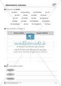 Namenwörter erkennen: Gefühle und Begriffe: Arbeitsblätter und Test Thumbnail 1