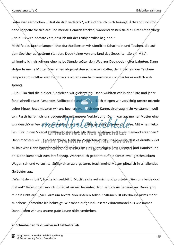 Satzanfänge in einer Erlebniserzählung korrigieren: Übung und Lösung (hohes Niveau) Preview 1