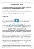 Synonyme in einer Erlebnisgeschichte finden: Übung und Lösung (mittleres Niveau) Preview 3