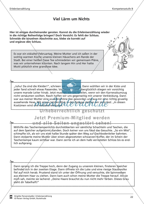Eine Erlebniserzählung schreiben: Vom Wortfeld bis zur Erzählung (mittleres Niveau) Preview 3
