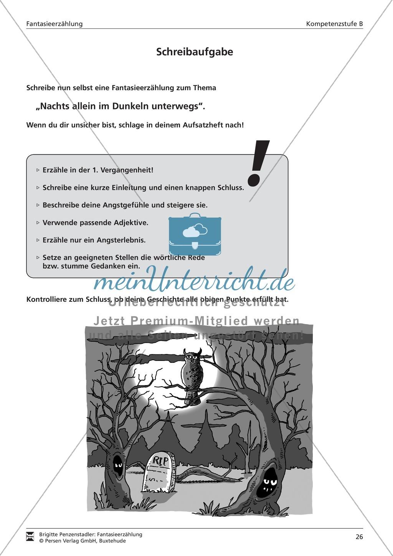 Eine Fantasieerzählung schreiben und Schreibkonferenz halten: Aufgabe und Arbeitsbogen Preview 0