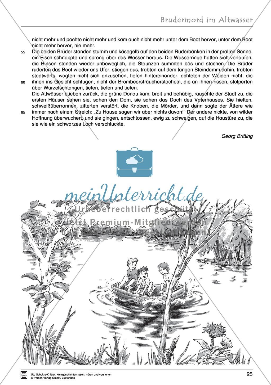 """Kurzgeschichte """"Brudermord im Altwasser"""": Text, Aufgaben, Lösung Preview 2"""
