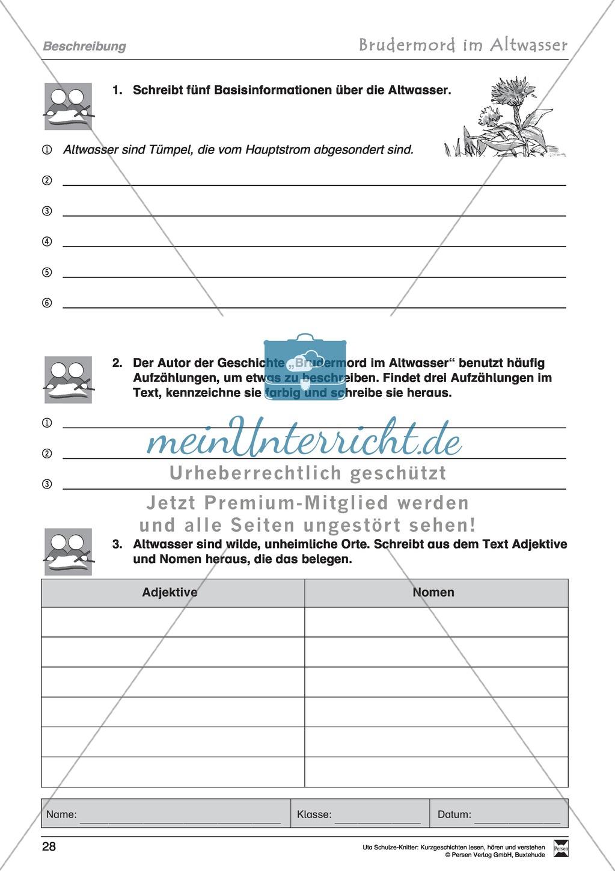 """Kurzgeschichte """"Brudermord im Altwasser"""": Text, Aufgaben, Lösung Preview 5"""