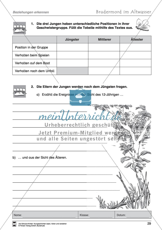 """Kurzgeschichte """"Brudermord im Altwasser"""": Text, Aufgaben, Lösung Preview 6"""