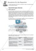 Bausteine für die Reparatur: Sprachstörungen erkennen, Elternbrief und Beobachtungsbogen Preview 1