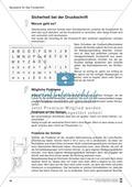 Bausteine für das Fundament: Sicherheit bei der Druckschrift, Merkblatt für Eltern Preview 1