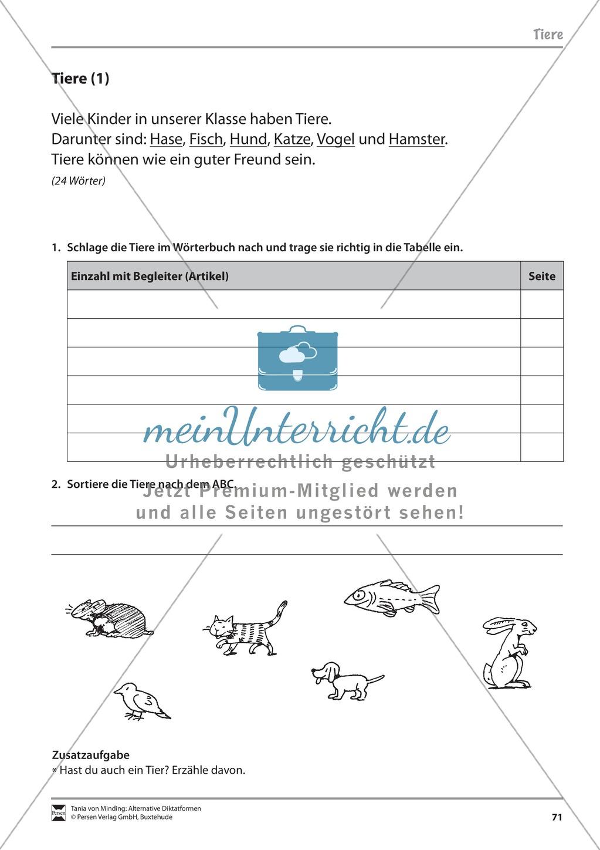 Wörterbucharbeit: Texte und Aufgaben + Lösungen - meinUnterricht