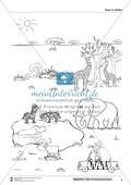Leseförderung Wilde Tiere: Arbeitshinweise, Unterrichtsmodell, Bilder, Arbeitsblätter, Lesespiel und Kontrollblatt Preview 8