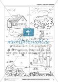 Vom Situationsbild zum Lesen, Thema Frühling: Unterrichtsentwurf und Materialien komplett Preview 11
