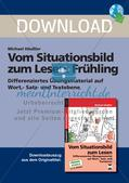 Vom Situationsbild zum Lesen, Thema Frühling: Unterrichtsentwurf und Materialien komplett Preview 1