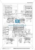 Leseförderung Einkaufen: Arbeitshinweise, Unterrichtsmodell, Bilder, Arbeitsblätter, Lesespiel und Kontrollblatt Preview 10