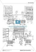 Leseförderung Einkaufen: Arbeitshinweise, Unterrichtsmodell, Bilder, Arbeitsblätter, Lesespiel und Kontrollblatt Preview 8